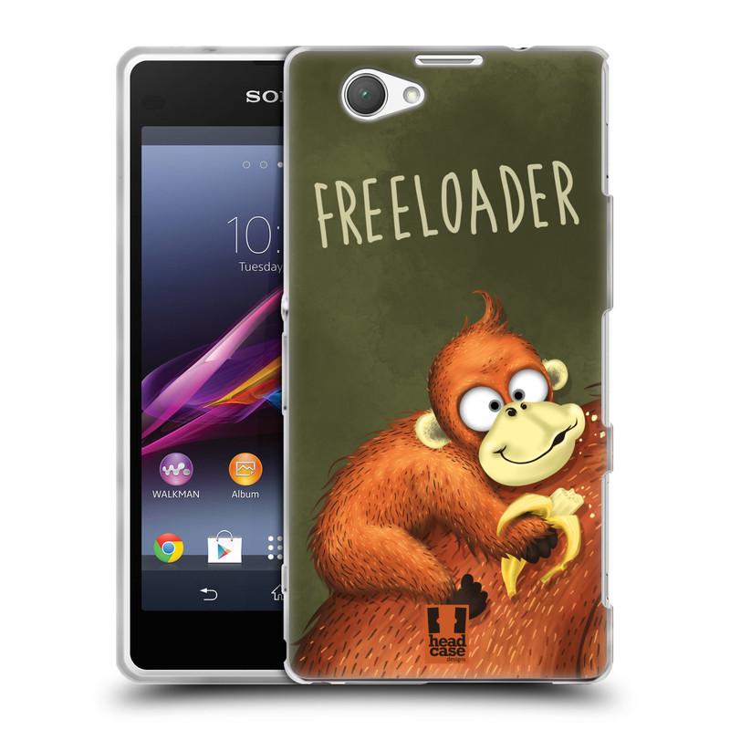 Silikonové pouzdro na mobil Sony Xperia Z1 Compact D5503 HEAD CASE Opičák Freeloader (Silikonový kryt či obal na mobilní telefon Sony Xperia Z1 Compact)