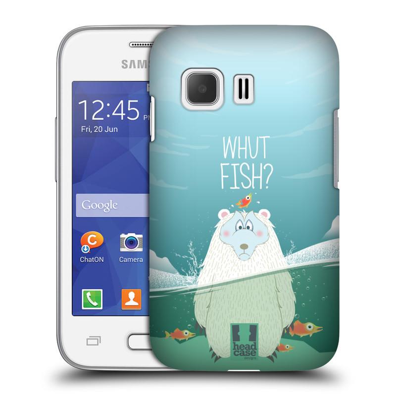 Plastové pouzdro na mobil Samsung Galaxy Young 2 HEAD CASE Medvěd Whut Fish? (Kryt či obal na mobilní telefon Samsung Galaxy Young 2 SM-G130)