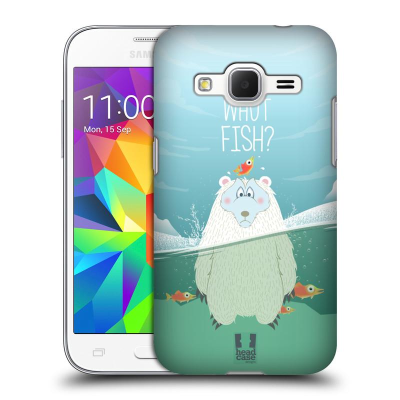 Plastové pouzdro na mobil Samsung Galaxy Core Prime LTE HEAD CASE Medvěd Whut Fish? (Kryt či obal na mobilní telefon Samsung Galaxy Core Prime LTE SM-G360)
