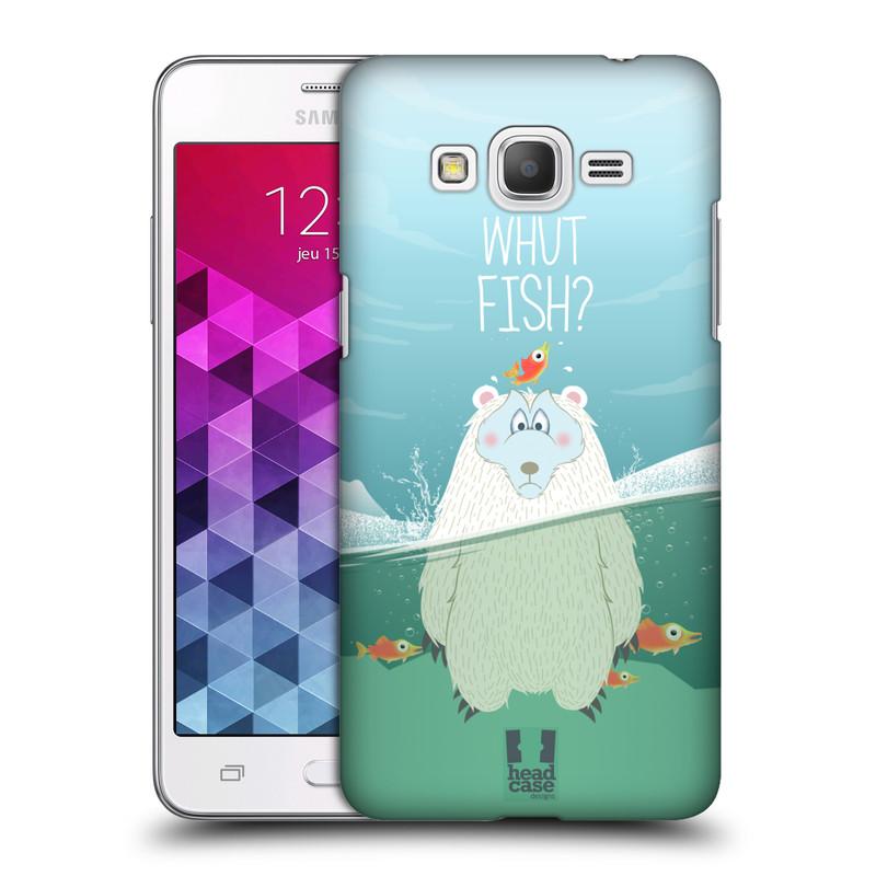Plastové pouzdro na mobil Samsung Galaxy Grand Prime HEAD CASE Medvěd Whut Fish? (Kryt či obal na mobilní telefon Samsung Galaxy Grand Prime SM-G530)