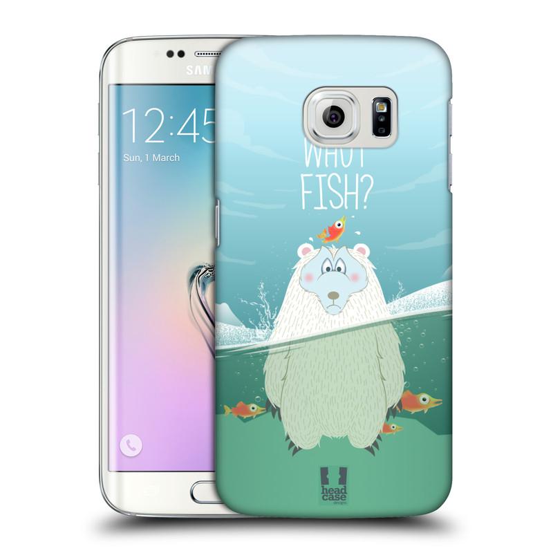 Plastové pouzdro na mobil Samsung Galaxy S6 Edge HEAD CASE Medvěd Whut Fish? (Kryt či obal na mobilní telefon Samsung Galaxy S6 Edge SM-G925F)