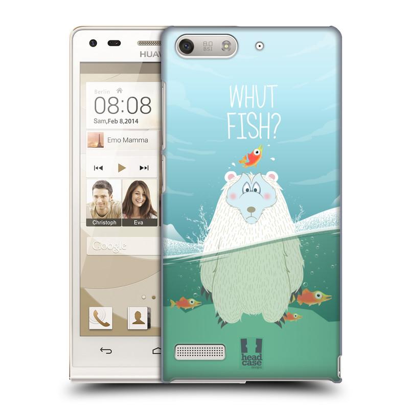 Plastové pouzdro na mobil Huawei Ascend G6 HEAD CASE Medvěd Whut Fish? (Kryt či obal na mobilní telefon Huawei Ascend G6 bez LTE)