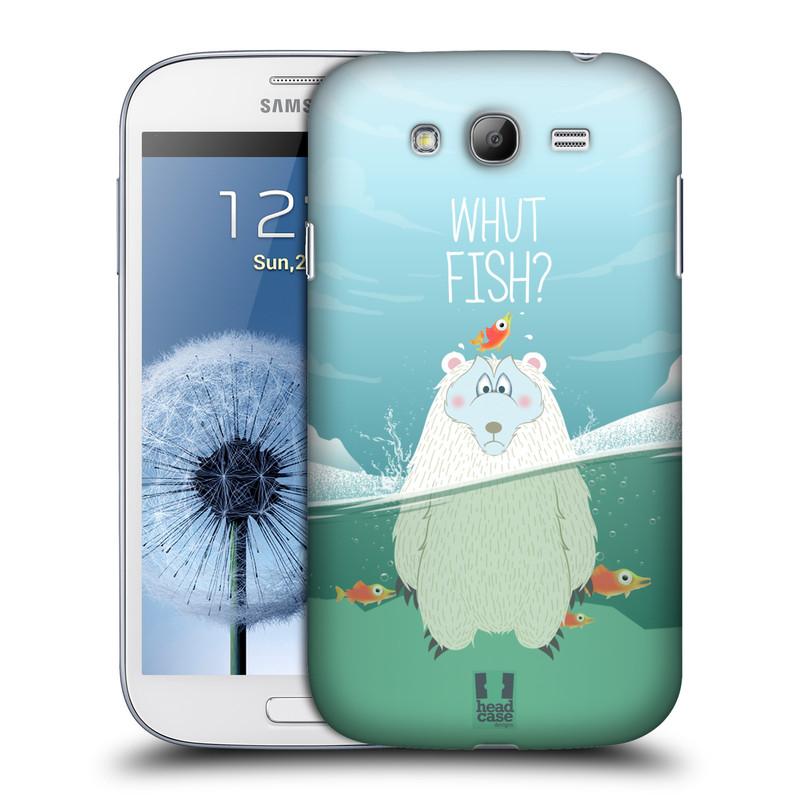 Plastové pouzdro na mobil Samsung Galaxy Grand Neo Plus HEAD CASE Medvěd Whut Fish? (Kryt či obal na mobilní telefon Samsung Galaxy Grand Neo Plus GT-i9060i)