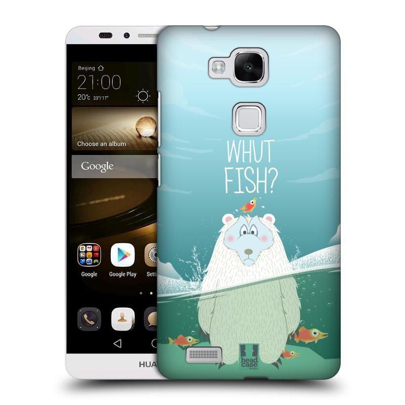 Plastové pouzdro na mobil Huawei Ascend Mate 7 HEAD CASE Medvěd Whut Fish? (Kryt či obal na mobilní telefon Huawei Ascend Mate7)