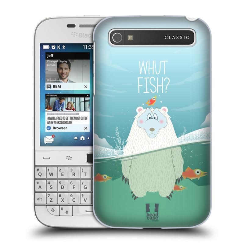Plastové pouzdro na mobil Blackberry Classic HEAD CASE Medvěd Whut Fish? (Kryt či obal na mobilní telefon Blackberry Classic)
