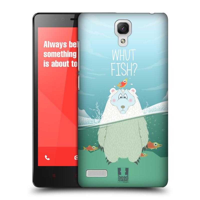 Plastové pouzdro na mobil Xiaomi Redmi Note LTE HEAD CASE Medvěd Whut Fish? (Kryt či obal na mobilní telefon Xiaomi Redmi Note LTE (4G) s 5,5'' displejem)