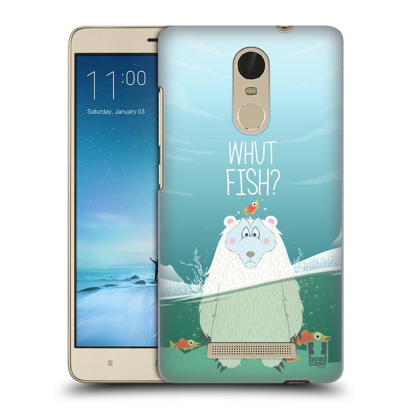 "Plastové pouzdro na mobil Xiaomi Redmi Note 3 HEAD CASE Medvěd Whut Fish? (Kryt či obal na mobilní telefon Xiaomi Redmi Note 3 s 5,5"" displejem)"