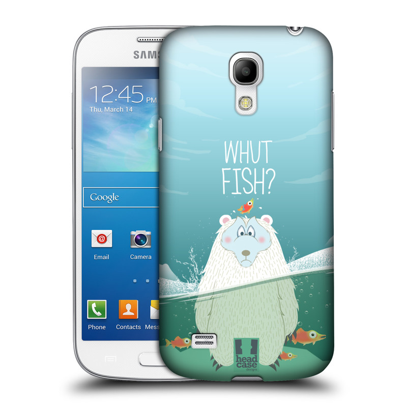Plastové pouzdro na mobil Samsung Galaxy S4 Mini HEAD CASE Medvěd Whut Fish? (Kryt či obal na mobilní telefon Samsung Galaxy S4 Mini GT-i9195 / i9190)