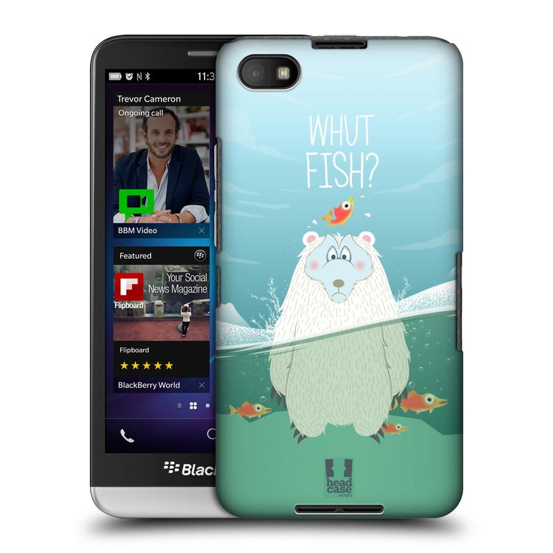 Plastové pouzdro na mobil Blackberry Z30 HEAD CASE Medvěd Whut Fish? (Kryt či obal na mobilní telefon Blackberry Z30)