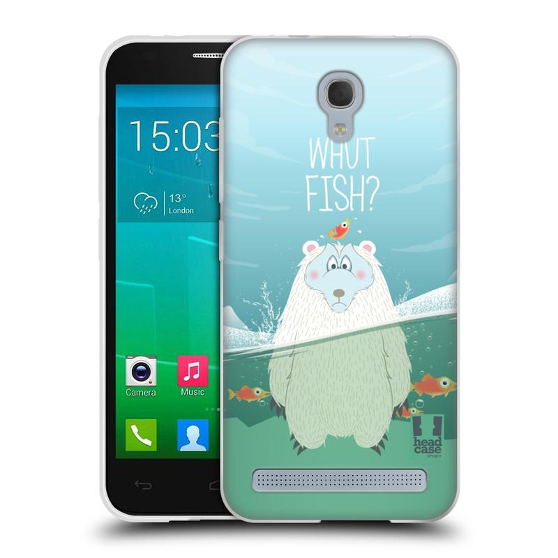 Silikonové pouzdro na mobil Alcatel One Touch Idol 2 Mini S 6036Y HEAD CASE Medvěd Whut Fish? (Silikonový kryt či obal na mobilní telefon Alcatel Idol 2 Mini S OT-6036Y)