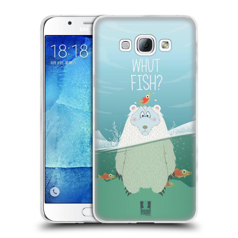 Silikonové pouzdro na mobil Samsung Galaxy A8 HEAD CASE Medvěd Whut Fish? (Silikonový kryt či obal na mobilní telefon Samsung Galaxy A8 SM-A800)