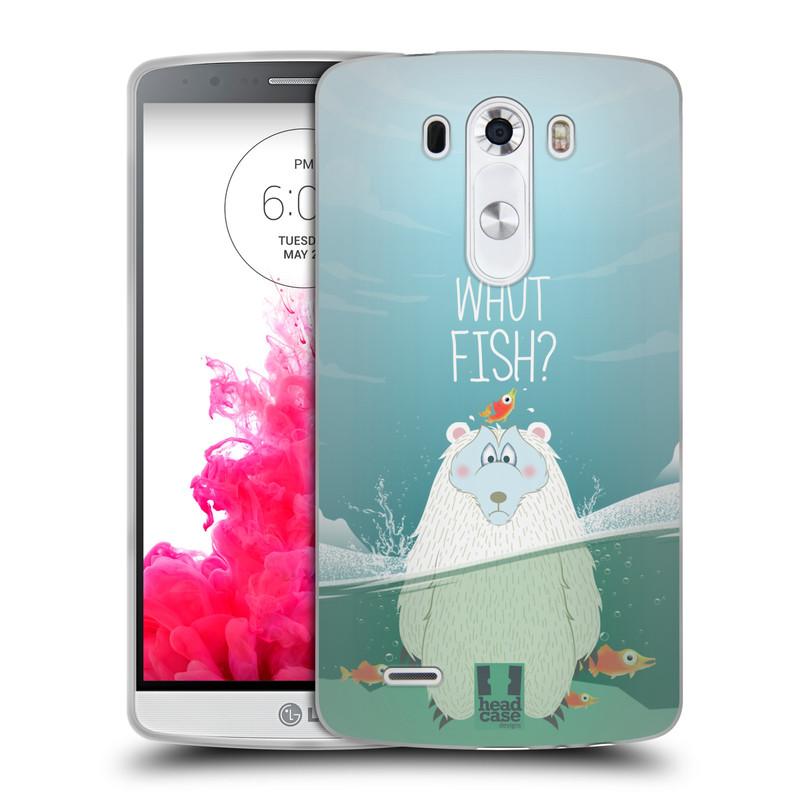 Silikonové pouzdro na mobil LG G3 HEAD CASE Medvěd Whut Fish? (Silikonový kryt či obal na mobilní telefon LG G3)