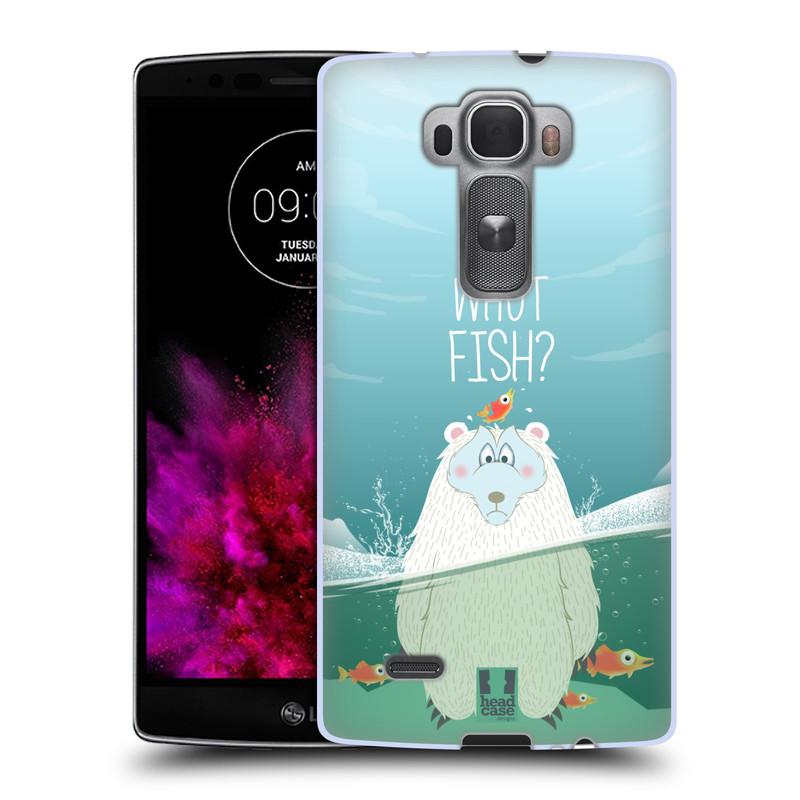 Silikonové pouzdro na mobil LG G Flex 2 HEAD CASE Medvěd Whut Fish? (Silikonový kryt či obal na mobilní telefon LG G Flex 2 H955)