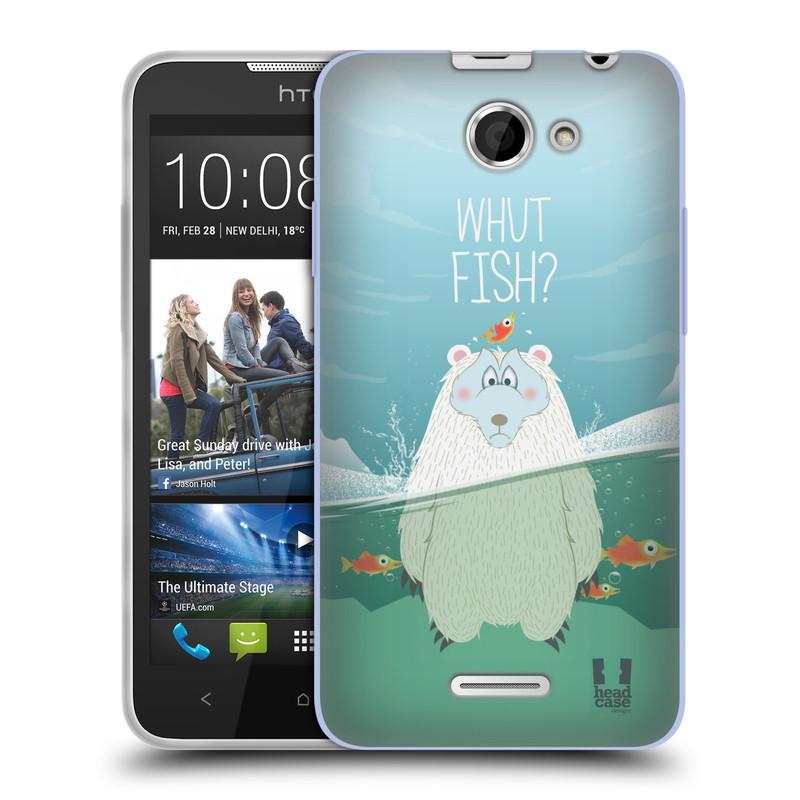 Silikonové pouzdro na mobil HTC Desire 516 HEAD CASE Medvěd Whut Fish? (Silikonový kryt či obal na mobilní telefon HTC Desire 516 Dual SIM)