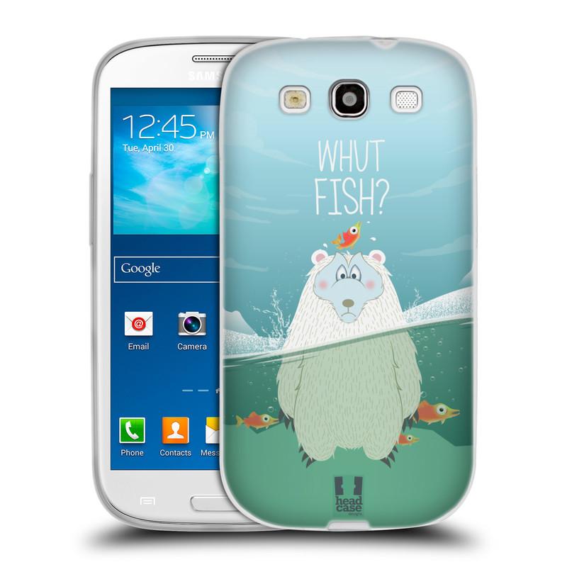 Silikonové pouzdro na mobil Samsung Galaxy S3 Neo HEAD CASE Medvěd Whut Fish? (Silikonový kryt či obal na mobilní telefon Samsung Galaxy S3 Neo GT-i9301i)