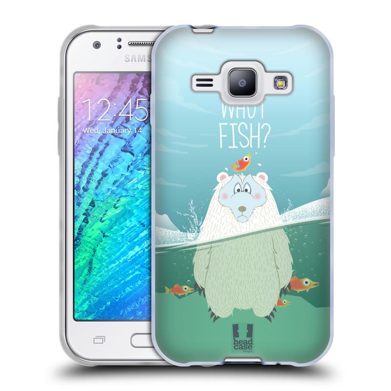 Silikonové pouzdro na mobil Samsung Galaxy J1 HEAD CASE Medvěd Whut Fish? (Silikonový kryt či obal na mobilní telefon Samsung Galaxy J1 a J1 Duos)