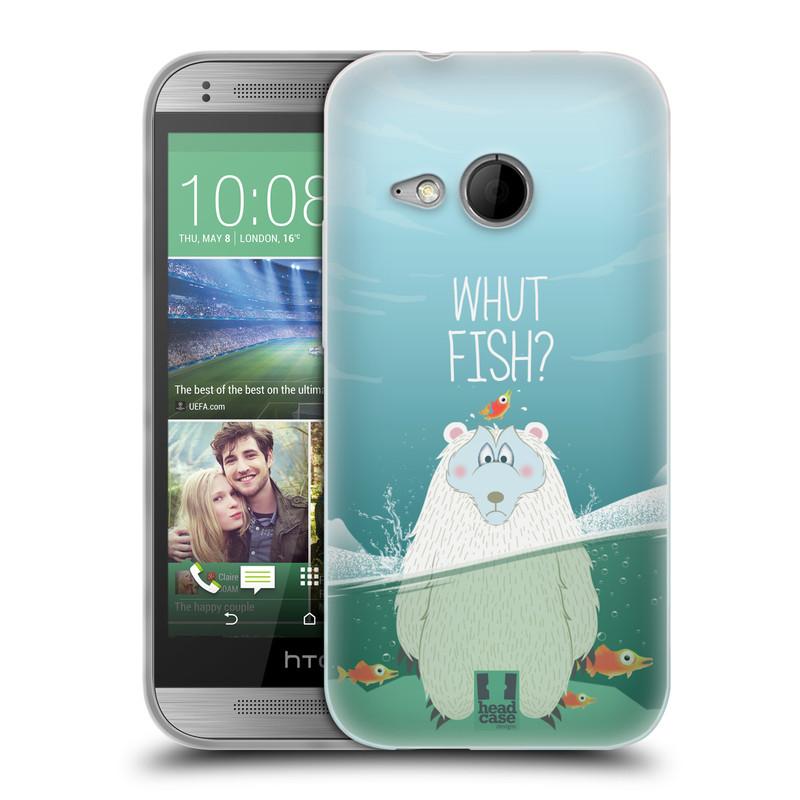 Silikonové pouzdro na mobil HTC ONE Mini 2 HEAD CASE Medvěd Whut Fish? (Silikonový kryt či obal na mobilní telefon HTC ONE Mini 2)