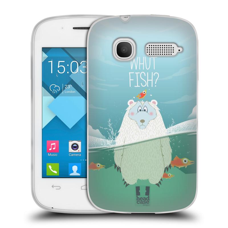 Silikonové pouzdro na mobil Alcatel One Touch Pop C1 HEAD CASE Medvěd Whut Fish? (Silikonový kryt či obal na mobilní telefon Alcatel OT-4015D POP C1)