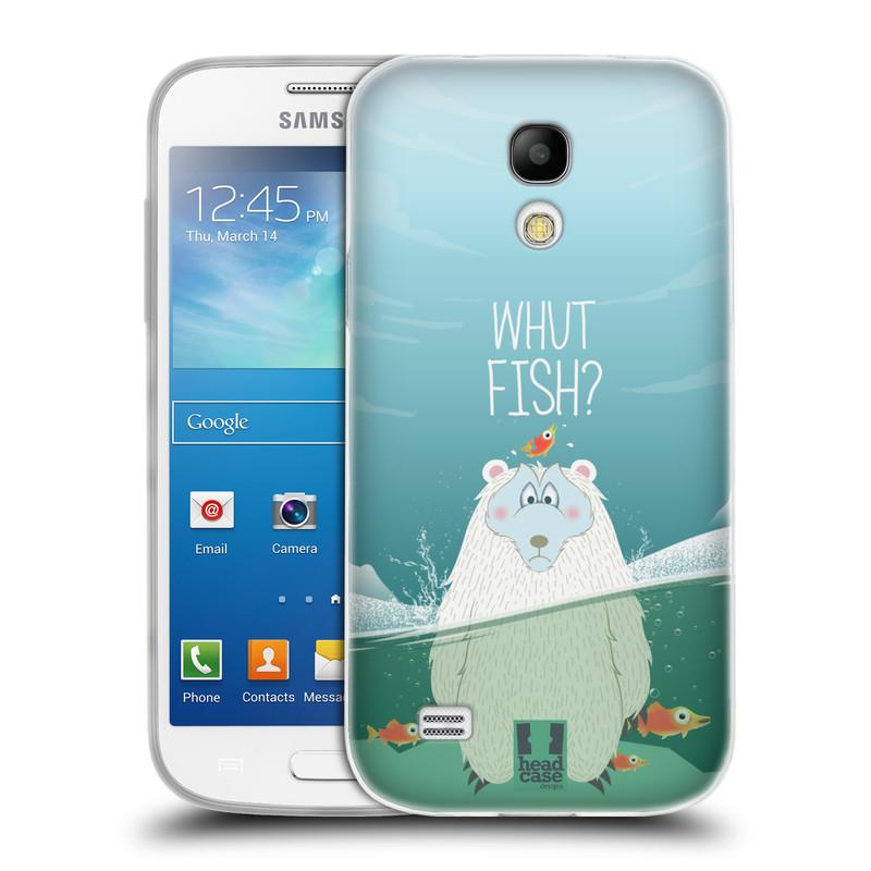 Silikonové pouzdro na mobil Samsung Galaxy S4 Mini HEAD CASE Medvěd Whut Fish? (Silikonový kryt či obal na mobilní telefon Samsung Galaxy S4 Mini GT-i9195 / i9190)