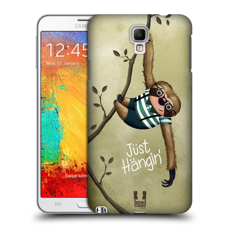 Plastové pouzdro na mobil Samsung Galaxy Note 3 Neo HEAD CASE Lenochod Just Hangin (Kryt či obal na mobilní telefon Samsung Galaxy Note 3 Neo SM-N7505)