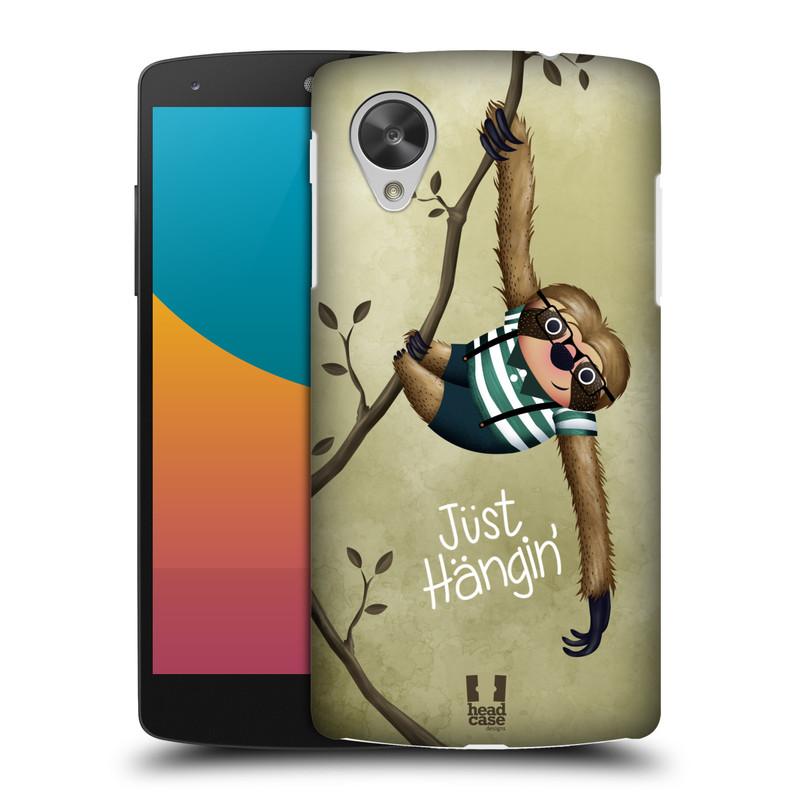 Plastové pouzdro na mobil LG Nexus 5 HEAD CASE Lenochod Just Hangin (Kryt či obal na mobilní telefon LG Google Nexus 5 D821)