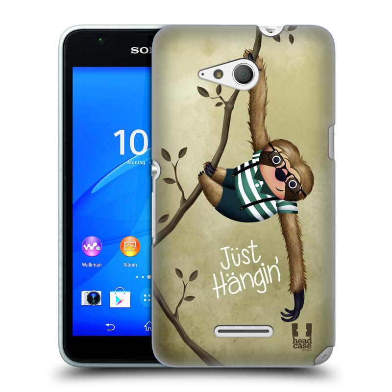 Plastové pouzdro na mobil Sony Xperia E4g E2003 HEAD CASE Lenochod Just Hangin (Kryt či obal na mobilní telefon Sony Xperia E4g a E4g Dual SIM)