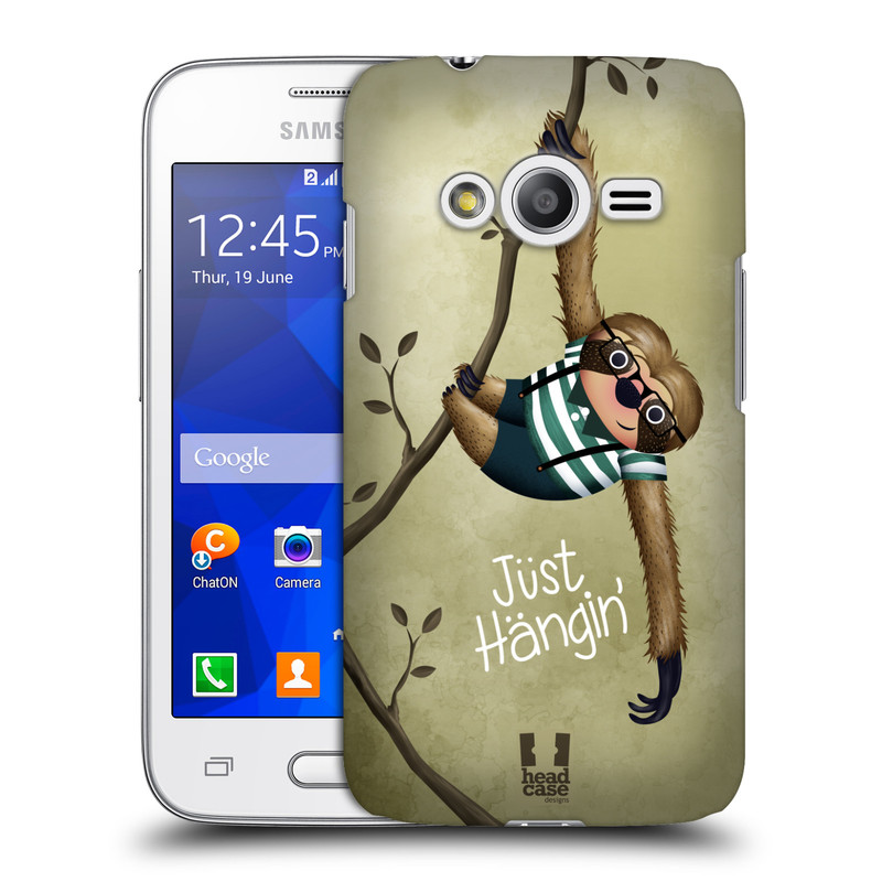 Plastové pouzdro na mobil Samsung Galaxy Trend 2 Lite HEAD CASE Lenochod Just Hangin (Kryt či obal na mobilní telefon Samsung Galaxy Trend 2 Lite SM-G318)