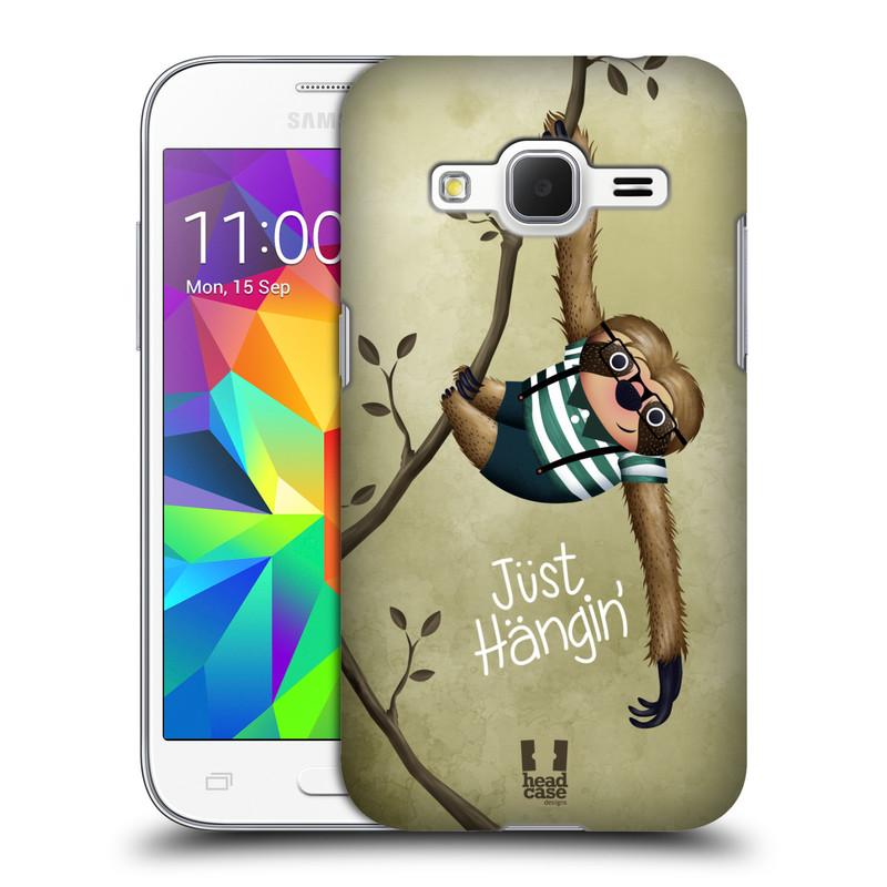 Plastové pouzdro na mobil Samsung Galaxy Core Prime LTE HEAD CASE Lenochod Just Hangin (Kryt či obal na mobilní telefon Samsung Galaxy Core Prime LTE SM-G360)