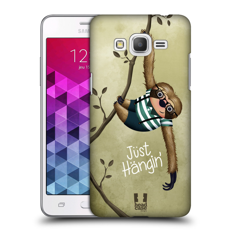 Plastové pouzdro na mobil Samsung Galaxy Grand Prime HEAD CASE Lenochod Just Hangin (Kryt či obal na mobilní telefon Samsung Galaxy Grand Prime SM-G530)