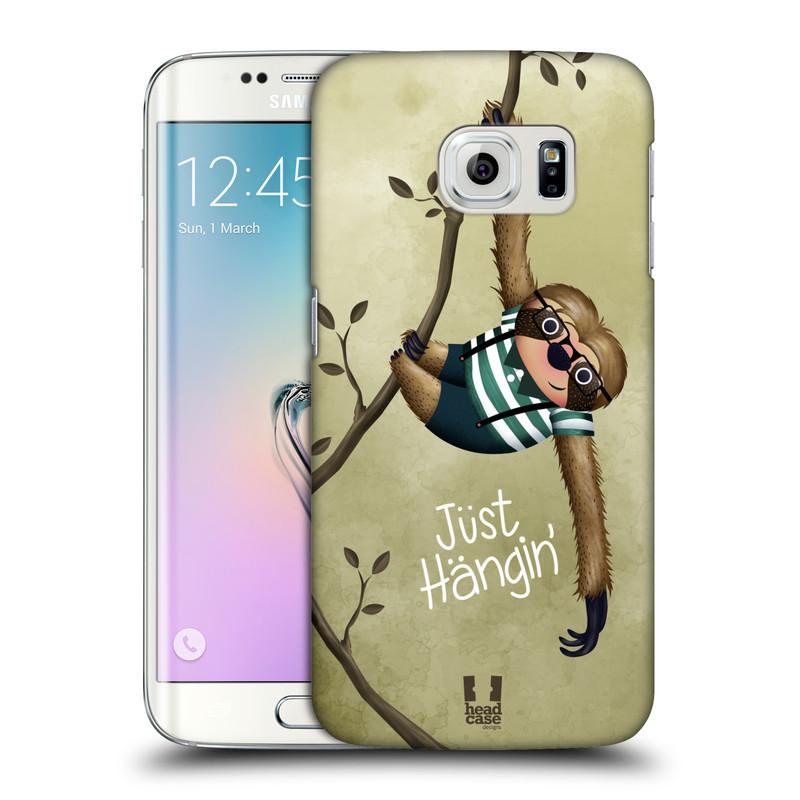 Plastové pouzdro na mobil Samsung Galaxy S6 Edge HEAD CASE Lenochod Just Hangin (Kryt či obal na mobilní telefon Samsung Galaxy S6 Edge SM-G925F)