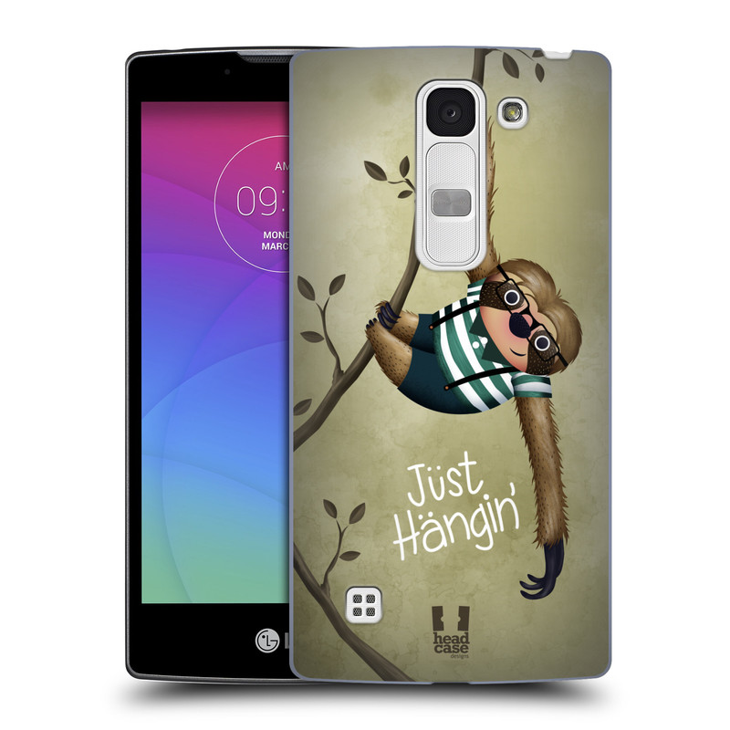 Plastové pouzdro na mobil LG Spirit LTE HEAD CASE Lenochod Just Hangin (Kryt či obal na mobilní telefon LG Spirit H420 a LG Spirit LTE H440N)