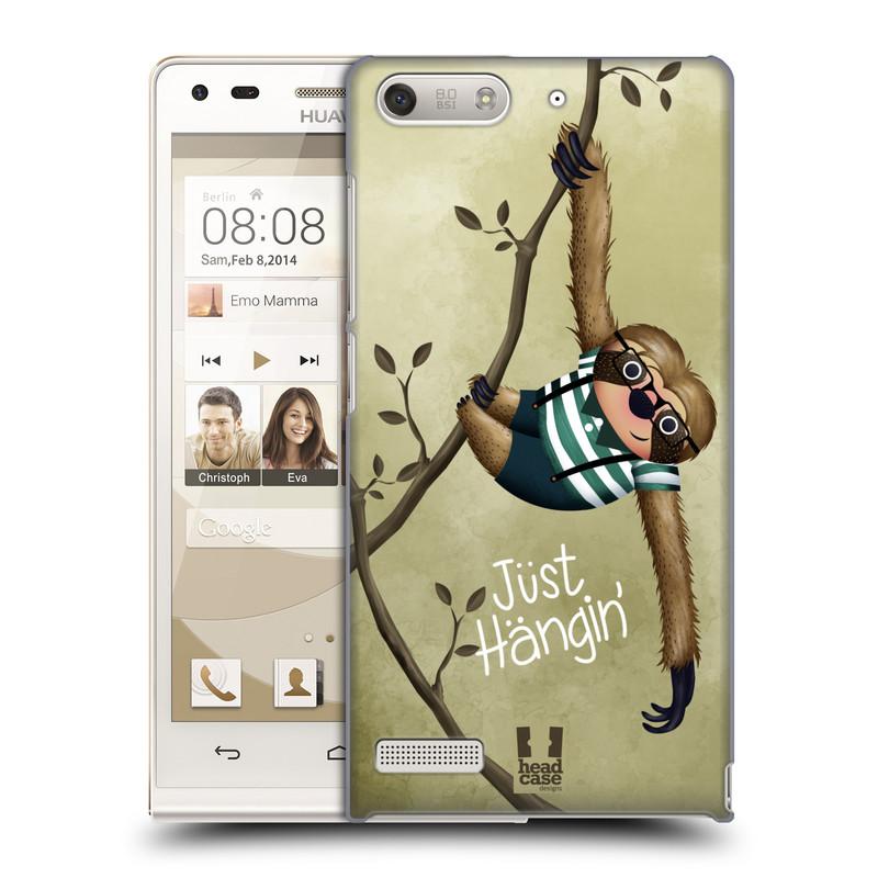 Plastové pouzdro na mobil Huawei Ascend G6 HEAD CASE Lenochod Just Hangin (Kryt či obal na mobilní telefon Huawei Ascend G6 bez LTE)