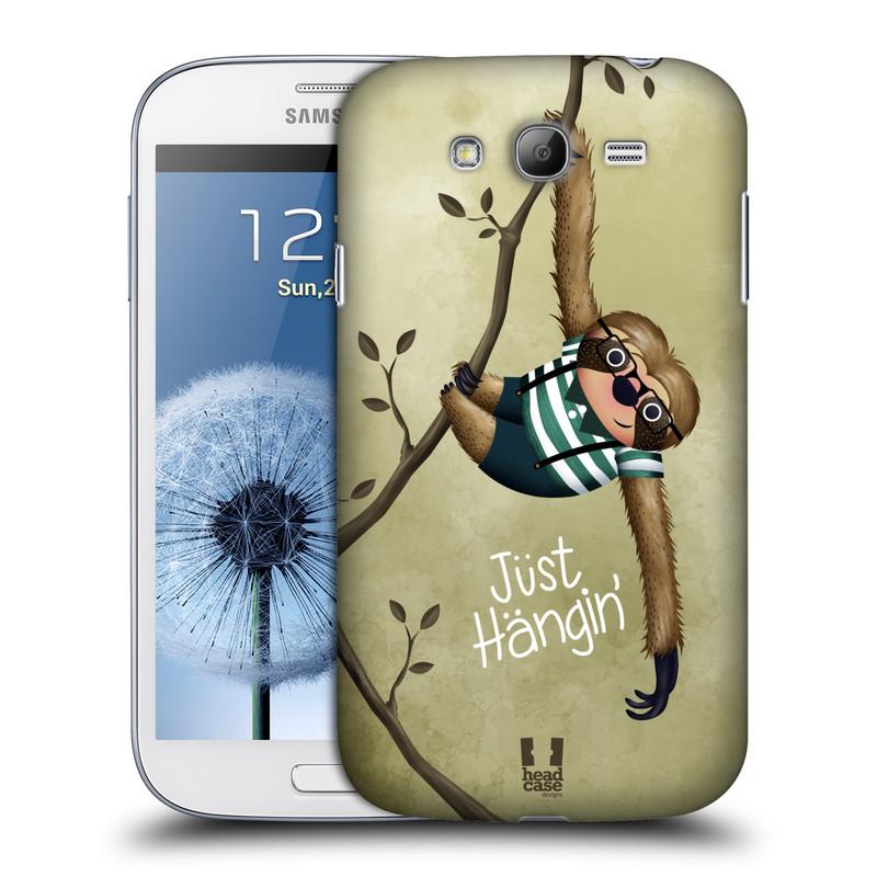 Plastové pouzdro na mobil Samsung Galaxy Grand Neo Plus HEAD CASE Lenochod Just Hangin (Kryt či obal na mobilní telefon Samsung Galaxy Grand Neo Plus GT-i9060i)