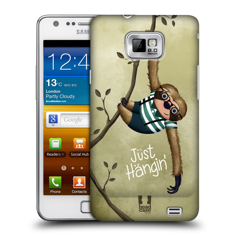 Plastové pouzdro na mobil Samsung Galaxy S II HEAD CASE Lenochod Just Hangin (Kryt či obal na mobilní telefon Samsung Galaxy S II GT-i9100)