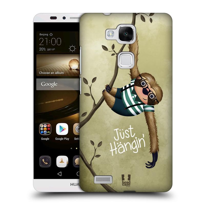 Plastové pouzdro na mobil Huawei Ascend Mate 7 HEAD CASE Lenochod Just Hangin (Kryt či obal na mobilní telefon Huawei Ascend Mate7)