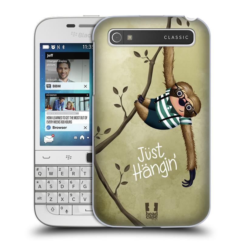 Plastové pouzdro na mobil Blackberry Classic HEAD CASE Lenochod Just Hangin (Kryt či obal na mobilní telefon Blackberry Classic)