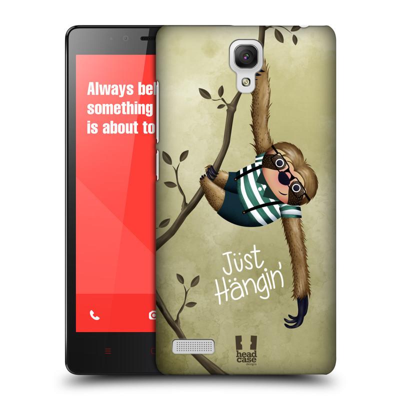 Plastové pouzdro na mobil Xiaomi Redmi Note LTE HEAD CASE Lenochod Just Hangin (Kryt či obal na mobilní telefon Xiaomi Redmi Note LTE (4G) s 5,5'' displejem)