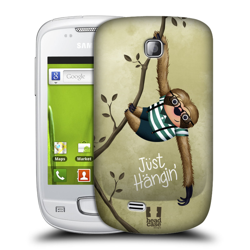 Plastové pouzdro na mobil Samsung Galaxy Mini HEAD CASE Lenochod Just Hangin (Kryt či obal na mobilní telefon Samsung Galaxy Mini GT-S5570 / GT-S5570i)