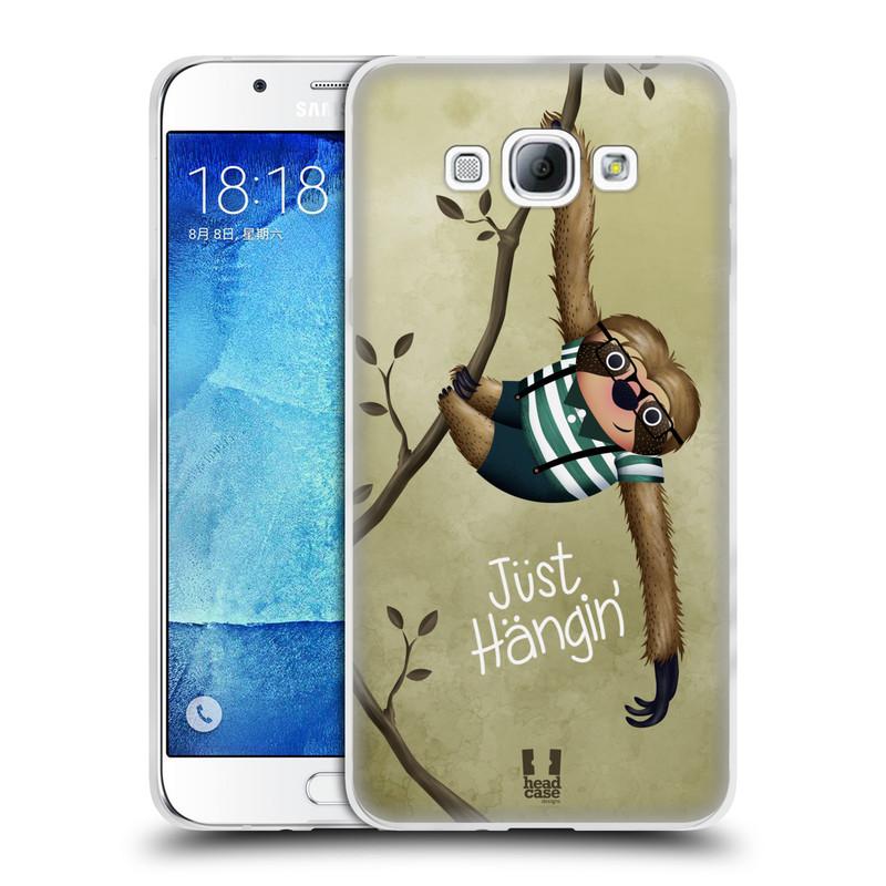 Silikonové pouzdro na mobil Samsung Galaxy A8 HEAD CASE Lenochod Just Hangin (Silikonový kryt či obal na mobilní telefon Samsung Galaxy A8 SM-A800)