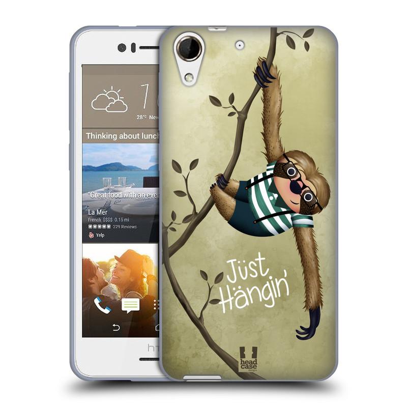 Silikonové pouzdro na mobil HTC Desire 728G Dual SIM HEAD CASE Lenochod Just Hangin (Silikonový kryt či obal na mobilní telefon HTC Desire 728 G Dual SIM)
