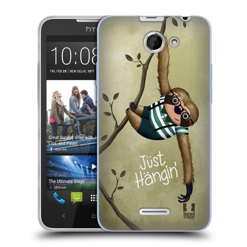 Silikonové pouzdro na mobil HTC Desire 516 HEAD CASE Lenochod Just Hangin (Silikonový kryt či obal na mobilní telefon HTC Desire 516 Dual SIM)