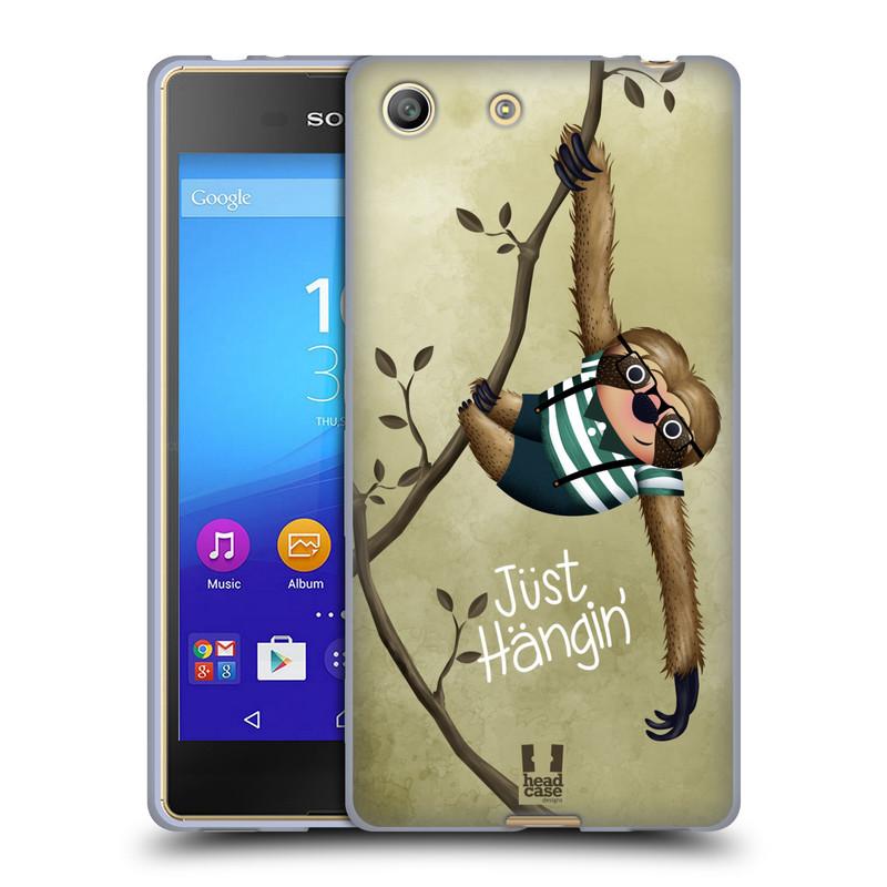 Silikonové pouzdro na mobil Sony Xperia M5 HEAD CASE Lenochod Just Hangin (Silikonový kryt či obal na mobilní telefon Sony Xperia M5 Dual SIM / Aqua)