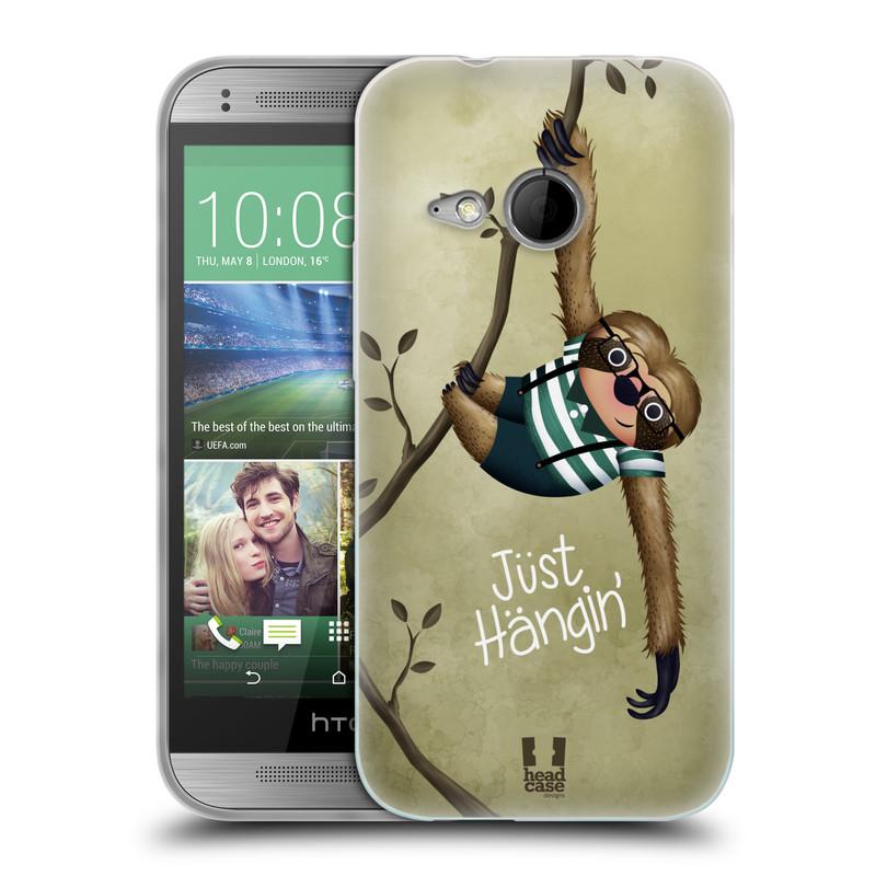 Silikonové pouzdro na mobil HTC ONE Mini 2 HEAD CASE Lenochod Just Hangin (Silikonový kryt či obal na mobilní telefon HTC ONE Mini 2)