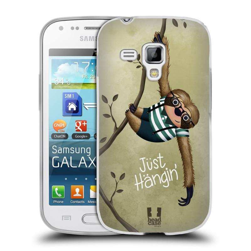Silikonové pouzdro na mobil Samsung Galaxy Trend Plus HEAD CASE Lenochod Just Hangin (Silikonový kryt či obal na mobilní telefon Samsung Galaxy Trend Plus GT-S7580)