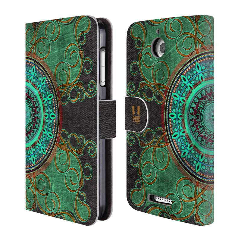 Flipové pouzdro na mobil HTC Desire 510 HEAD CASE ARAB MANDALA (Flipový vyklápěcí kryt či obal z umělé kůže na mobilní telefon HTC Desire 510)