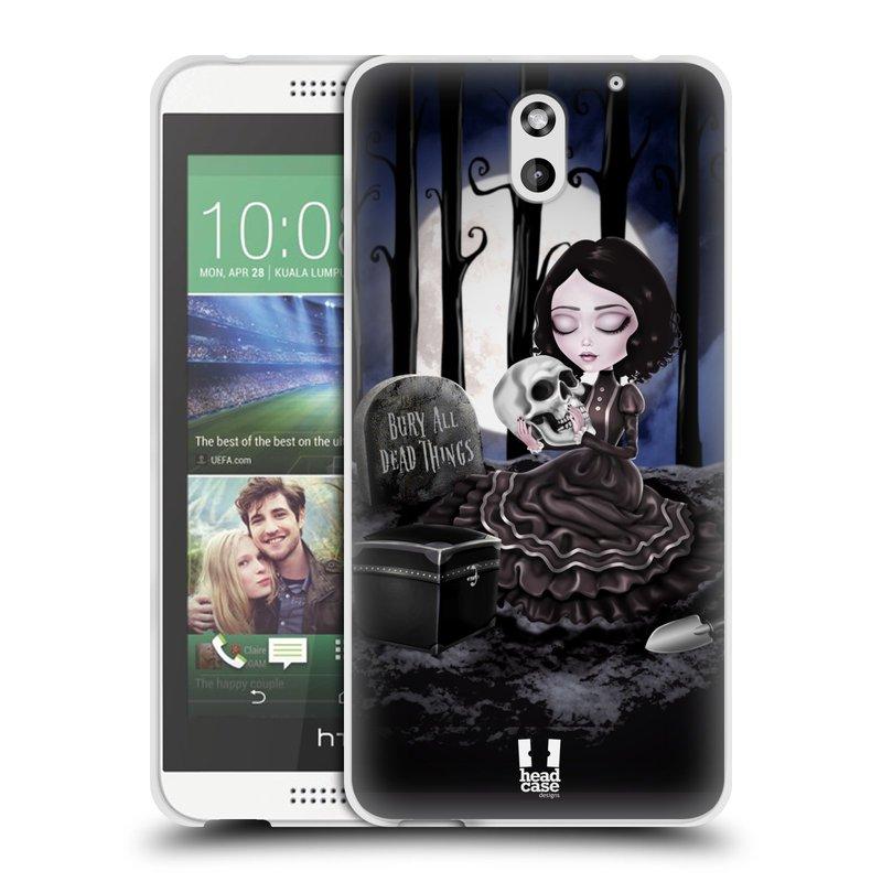 Silikonové pouzdro na mobil HTC Desire 610 HEAD CASE MACABRE HŘBITOV (Silikonový kryt či obal na mobilní telefon HTC Desire 610)