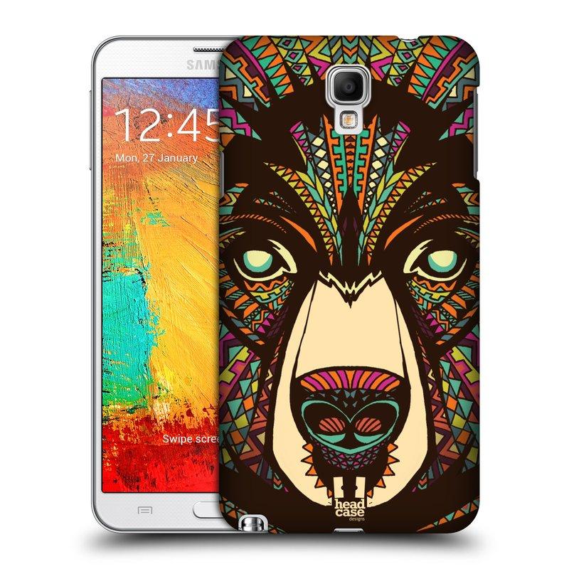 Plastové pouzdro na mobil Samsung Galaxy Note 3 Neo HEAD CASE AZTEC MEDVĚD (Kryt či obal na mobilní telefon Samsung Galaxy Note 3 Neo SM-N7505)