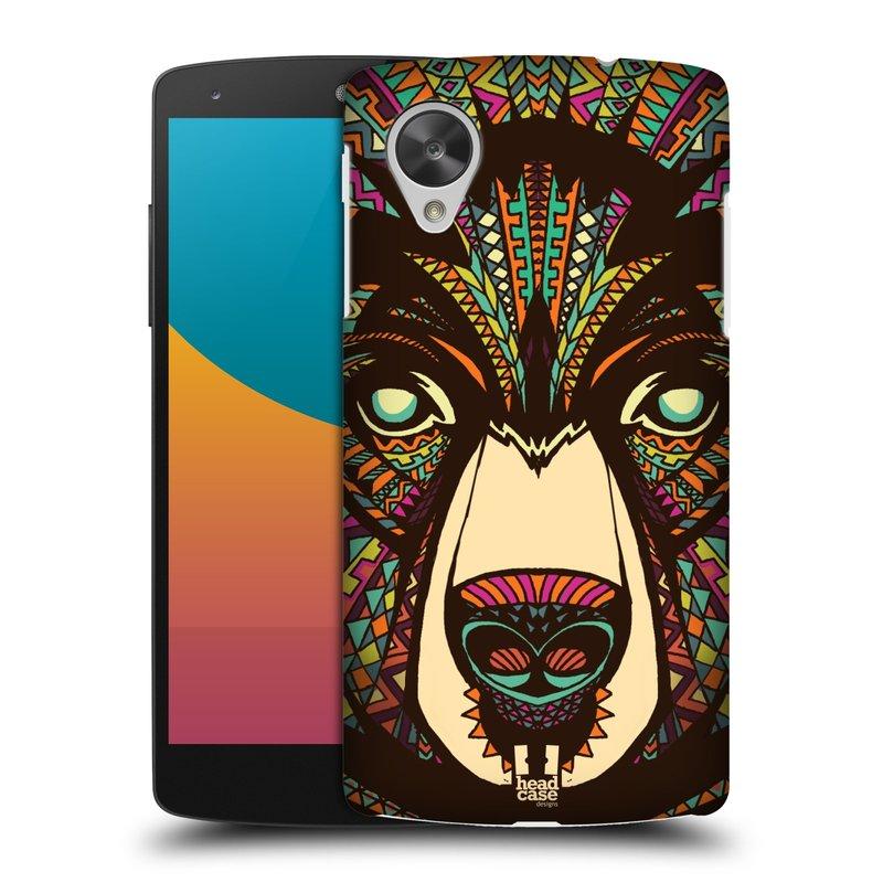 Plastové pouzdro na mobil LG Nexus 5 HEAD CASE AZTEC MEDVĚD (Kryt či obal na mobilní telefon LG Google Nexus 5 D821)