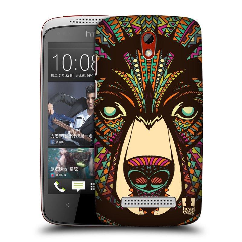 Plastové pouzdro na mobil HTC Desire 500 HEAD CASE AZTEC MEDVĚD (Kryt či obal na mobilní telefon HTC Desire 500)