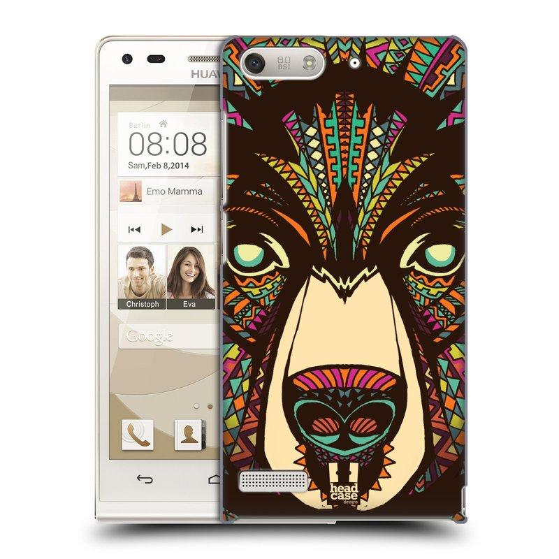 Plastové pouzdro na mobil Huawei Ascend G6 HEAD CASE AZTEC MEDVĚD (Kryt či obal na mobilní telefon Huawei Ascend G6 bez LTE)